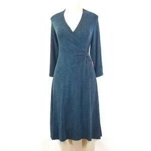 Chico's Travelers Midi Wrap-Look Dress